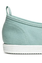 Slip on-sneakers i canvas - Mintgrön - Ladies | H&M FI 4